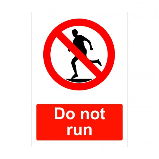 Do Not Run Sign, Health and Safety Correx Boards