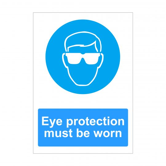 Eye Protection Must Be Worn Sign, Printed Dibond Signs