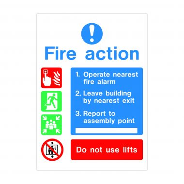 Fire Action Sign, Fire Safety Signage, Foamex Signs