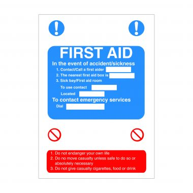 First Aid Sign, Foamex Printing, Vinyl Stickers