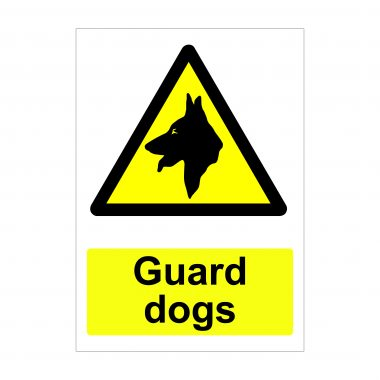 Guard Dog Sign, Printed Foamex Boards, Dibond Signage