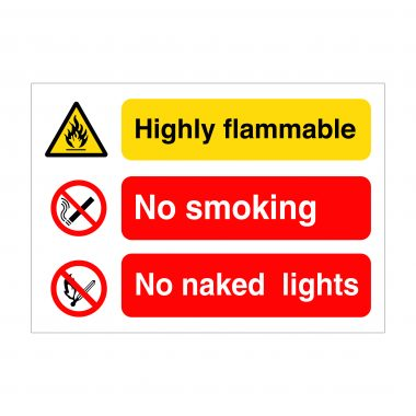 Highly Flammable Sign, Printed Vinyl Stickers, Correx Printing