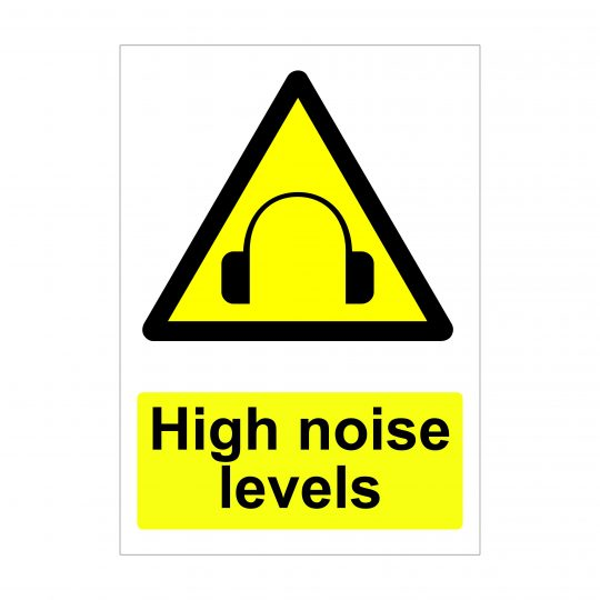 High Noise Levels Sign, Printed Vinyl Stickers