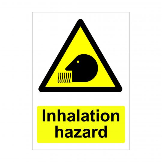 Inhalation Hazard Sign, Printed Correx Boards, Foamex Printing