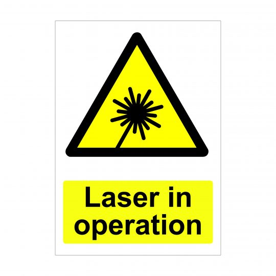 Laser in Operation Sign, Printed Foamex Boards, Dibond Signs