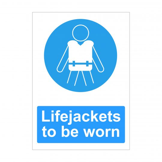 Lifejackets To Be Worn Sign, Printed Correx Boards