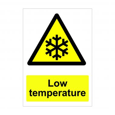 Low Temperature Sign, Printed Correx Signage, Vinyl Stickers