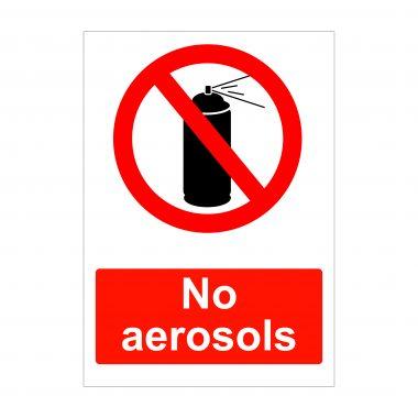 No aerosols, Correx Signs, Foamex Signage