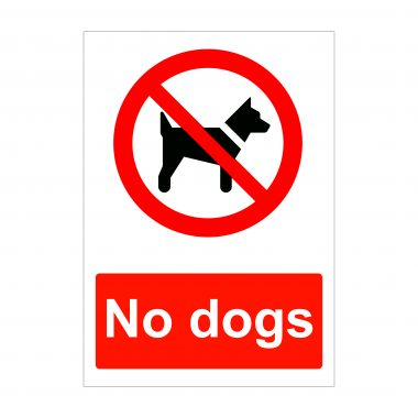 No Dogs Sign, Correx Signage, Foamex Signs