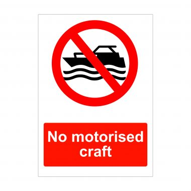 No Motorised Craft Sign, Foamex Boards