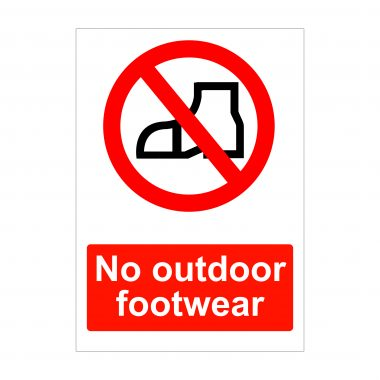 No Outdoor Footwear Sign, Dibond Signs