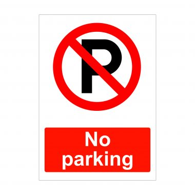 No Parking Sign, Correx Boards, Foamex Printing