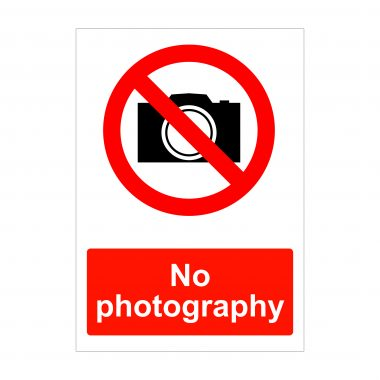 No Photography Sign, Dibond Signage
