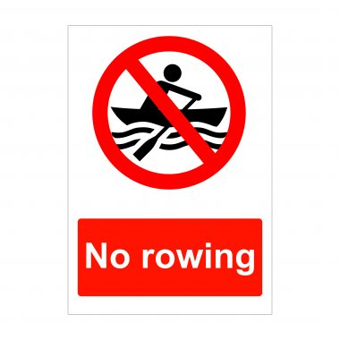 No Rowing Sign, Health and Safety Stickers