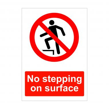 No Stepping On Surface Sign, Correx Signs