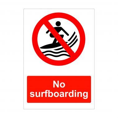 No Surfboarding Sign, Vinyl Stickers