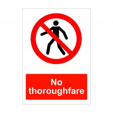 No Thoroughfare Sign, Vinyl Stickers