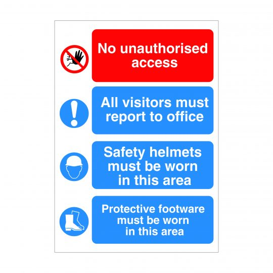 No Unauthorised Access Sign, Health and Safety Signs