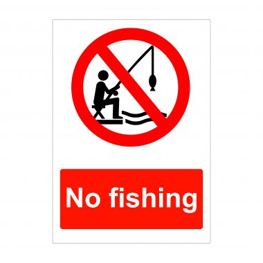 No Fishing Sign, Correx Boards, Dibond Signs