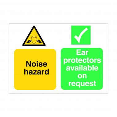 Noise Hazard Sign, Printed Construction Site Boards