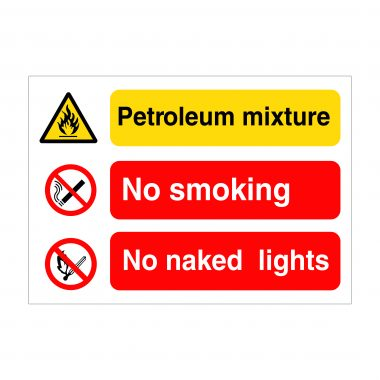Petroleum Mixture Sign, Health and Safety Boards