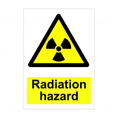 Radiation Hazard Sign, Health and Safety Signs
