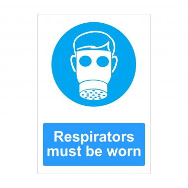 Respirators Must Be Worn Sign, Foamex Printing