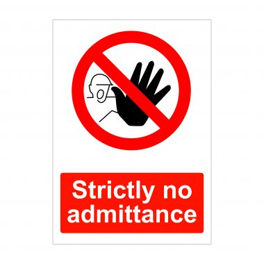 Strictly No Admittance Sign, Correx Boards, Printed Foam Pvc Signs