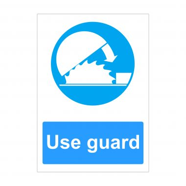 Use Guard Sign, Printed Vinyl Stickers, Foamex Printing