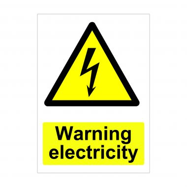 Warning Electricity Sign, Health and Safety Signs, Printed Dibond Boards