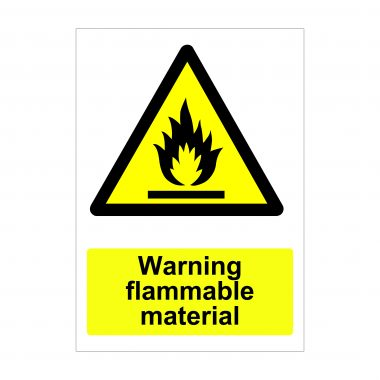 Warning Flammable Material Sign, Printed Health and Safety Signs
