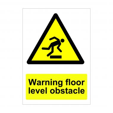 Warning Floor Level Obstacle Sign, Health and Safety Signs
