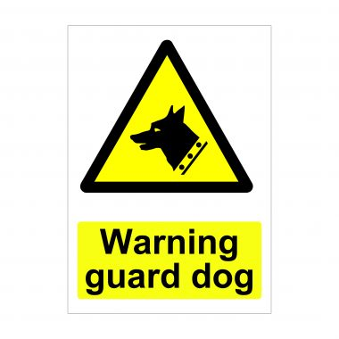 Warning Guard Dog Sign, Health and Safety Signage, Correx Board Printing