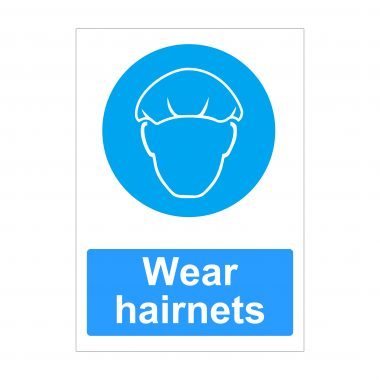 Wear Hairnets Sign, Printed Correx Sheets, Health and Safety Signs