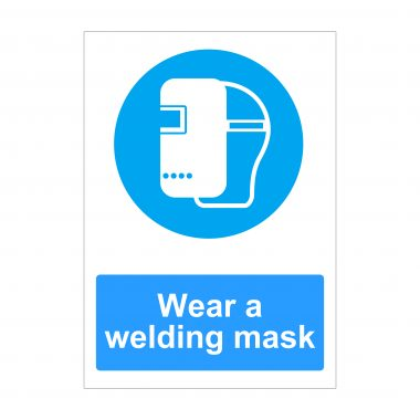 Wear a Welding Mask Sign, Printed Correx Boards, Printed Foamex