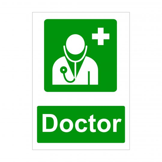 Doctor Sign, Health and Safety Signage, Printed Correx Boards