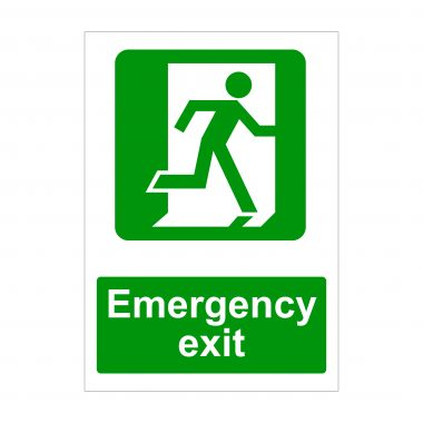 Emergency Exit Right Running Man Sign