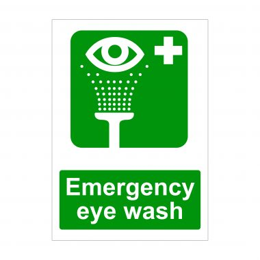 Emergency Eye Wash Sign, Health and Safety Signs