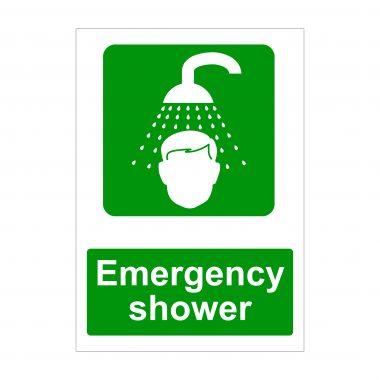 Emergency Shower Sign, Dibond Signage, Foamex Printing