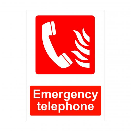 Emergency Telephone Sign, Fire Safety Signage