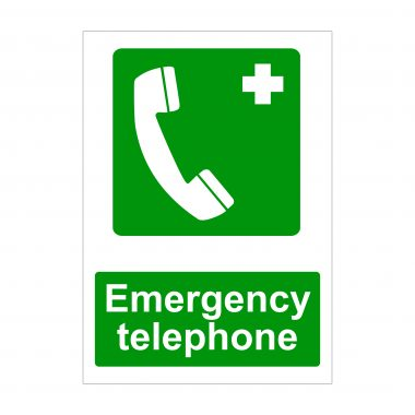 Emergency Telephone Sign, Printed Correx Boards