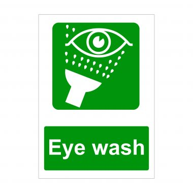 Eye Wash Sign, Printed Correx Boards