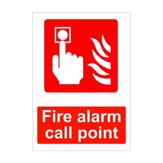 Fire Alarm Call Point Sign, Printed Correx Boards