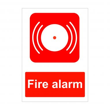 Fire Alarm Sign, Fire Safety Signage