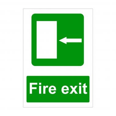 Fire Exit Arrow to Left Sign, Foamex Prints