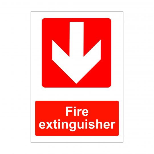 Fire Extinguisher Down Arrow Sign