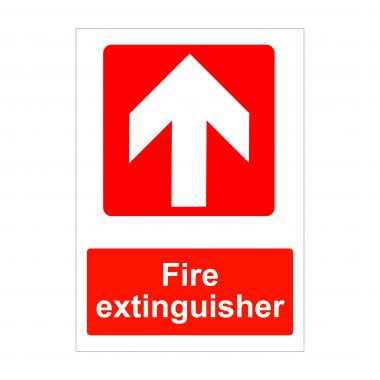Fire Extinguisher Up Arrow Sign