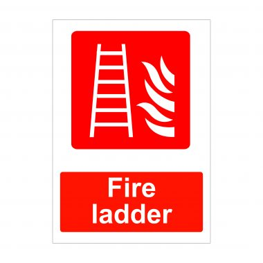 Fire Ladder Sign, Printed Fire Signage