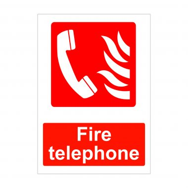 Fire Telephone Sign, Printed Fire Safety Signs