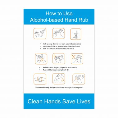How to Use Alcohol Based Hand Rub Sign, Covid-19 Health and Safety Signs, Corona Virus Signage